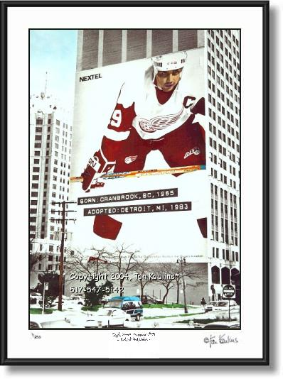 Click on this image to see an enlarged view of Steve Yzerman mural photo art YZERMAN mural.