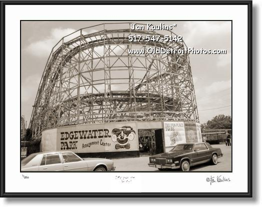 Click on this image to see an enlarged view of EDGEWATER AMUSEMENT PARK photo art print.