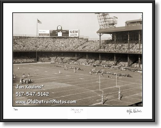 Click on this image to see an enlarged view of DETROIT LIONS BRIGGS STADIUM photo print.