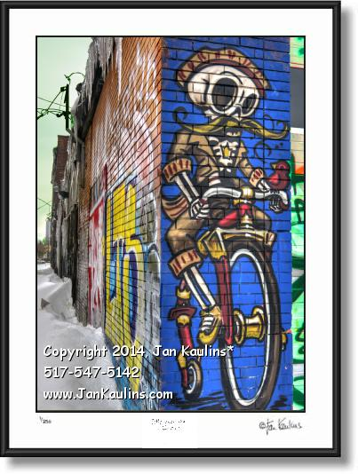 Click on this image to see an enlarged view of DETROIT GRAFFITI ART photo print Detroit #5.