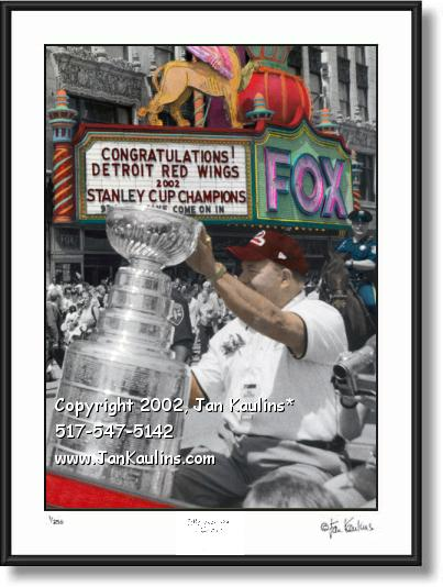 Click on this image to see an enlarged view of Scotty Bowman STANLEY CUP Red Wings photo.