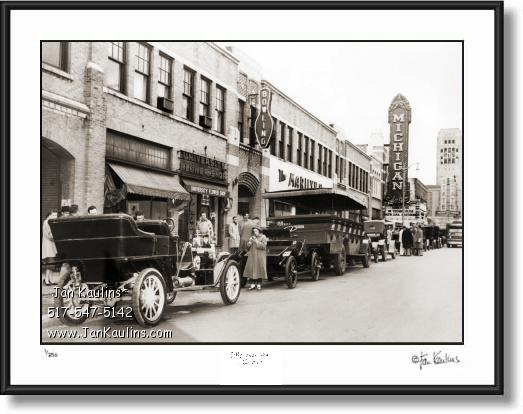 Click on this image to see an enlarged view of Vintage Old Ann Arbor photo print STATE ST. 1907.