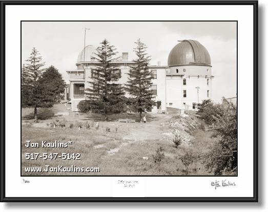 Click on this image to see an enlarged view of Old Vintage Ann Arbor UofM OBSERVATORY 1915.