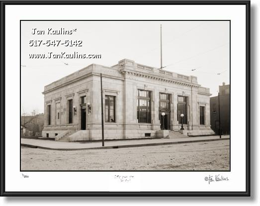 Click on this image to see an enlarged view of Old Vintage Ann Arbor POST OFFICE 1915 photo.