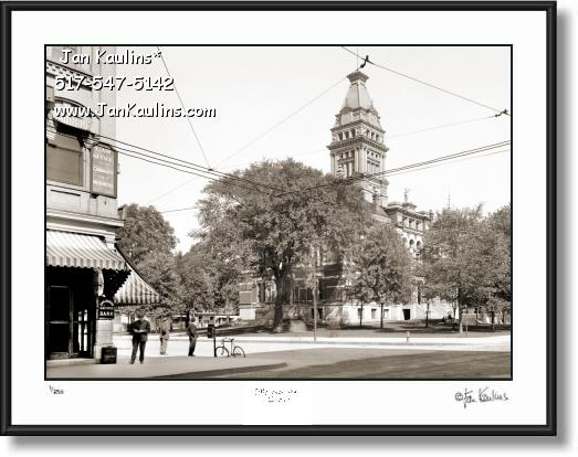 Click on this image to see an enlarged view of Vintage Old Ann Arbor OLD COURTHOUSE 1910.