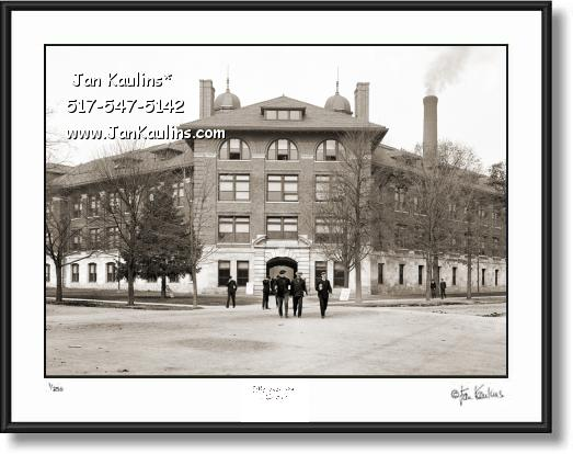 Click on this image to see an enlarged view of Old ANN ARBOR UofM ENGINEERING BLDG. 1905.