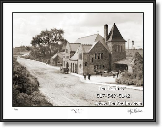 Click on this image to see an enlarged view of Vintage Ann Arbor Michigan Central Depot 1904.