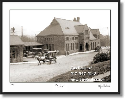 Click on this image to see an enlarged view of Vintage Ann Arbor Michigan Central Depot 1902.
