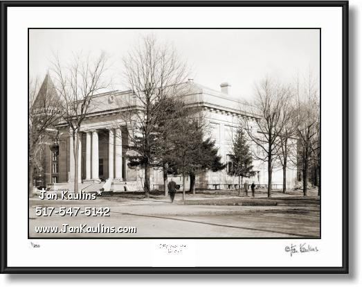 Click on this image to see an enlarged view of Old ALUMNI MEMORIAL HALL UofM 1910 print.