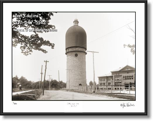 Click on this image to see an enlarged view of OLD YPSILANTI WATER TOWER 1900 photo print.