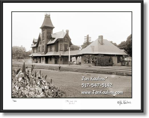 Click on this image to see an enlarged view of Vintage Old YPSILANTI TRAIN DEPOT photo print .
