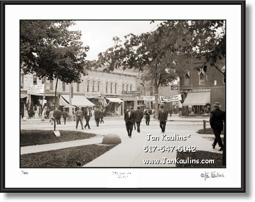 Click on this image to see an enlarged view of Old Vintage ANN ARBOR STATE STREET 1903.