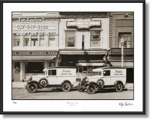 Click on this image to see an enlarged view of DRAKES SANDWICH SHOP Ann Arbor photo print.