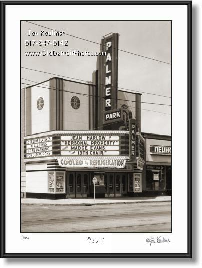 PALMER PARK THEATER photo picture art print