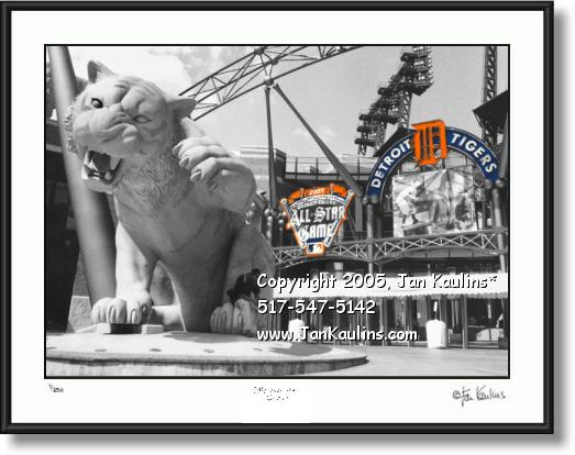 Click on this image to see an enlarged view of Comerica Park Detroit ALL STAR GAME photo art.