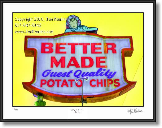 Click on this image to see an enlarged view of BETTER MADE CHIPS photo picture print.