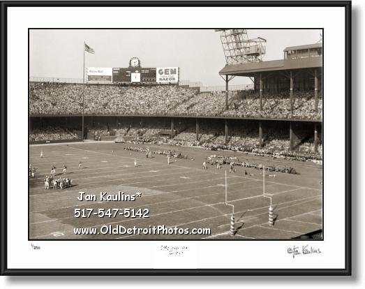 Click on this image to see an enlarged view of DETROIT LIONS BRIGGS STADIUM photo picture.