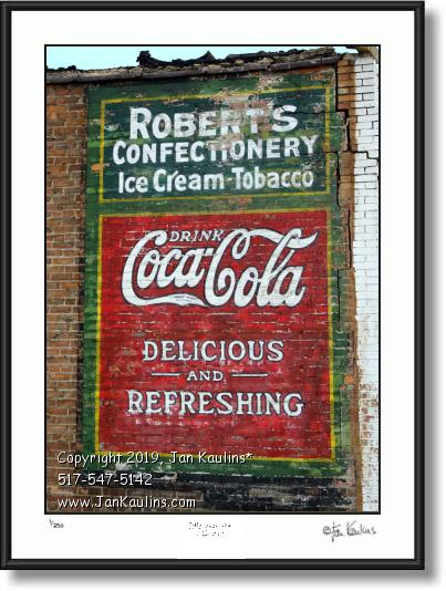 Click on this image to see an enlarged view of COCA COLA GHOST SIGN DETROIT photo print.