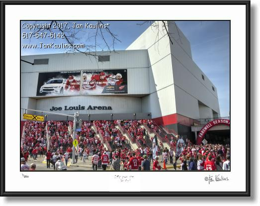Click on this image to see an enlarged view of JOE LOUIS ARENA FINAL LAST GAME photo print.