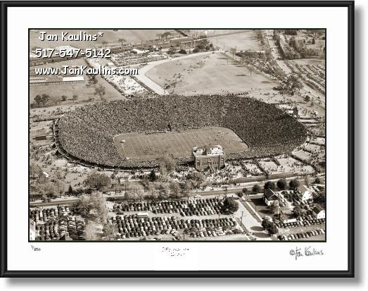 Click on this image to see an enlarged view of Old Vintage MICHIGAN STADIUM 1946 photo.
