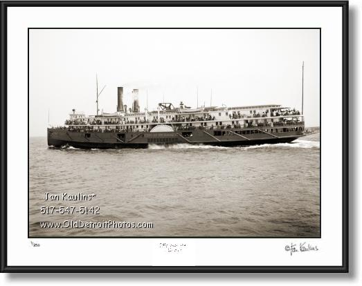 Click on this image to see an enlarged view of CITY OF St. IGNACE Great Lakes Steamer photo.
