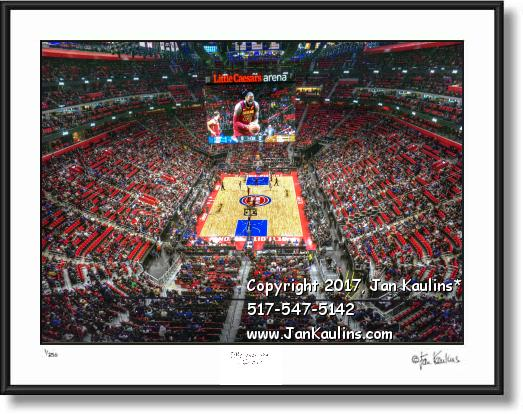 Click on this image to see an enlarged view of DETROIT PISTONS Little Ceasers Arena photo print.