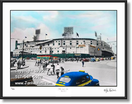 Click on this image to see an enlarged view of Briggs Stadium photo Briggs Stadium art print.