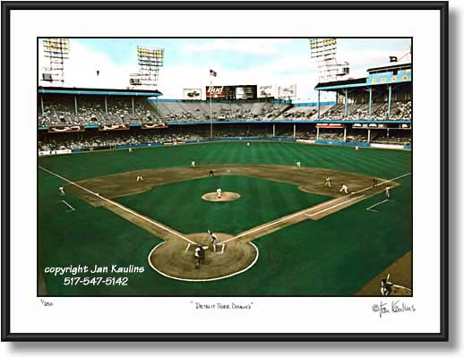 Click on this image to see an enlarged view of Detroit Tiger Stadium Tiger Stadium Diamond.