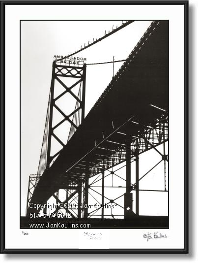 Click on this image to see an enlarged view of AMBASSADOR BRIDGE photo picture art print.