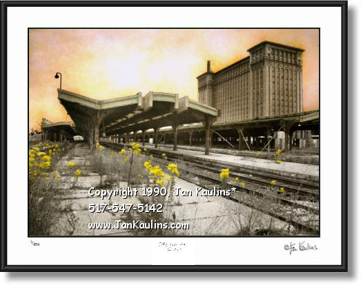 MICHIGAN CENTRAL STATION Detroit Photo print