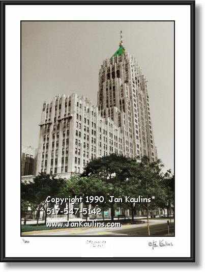 Fisher Building Detroit Art Photo print picture