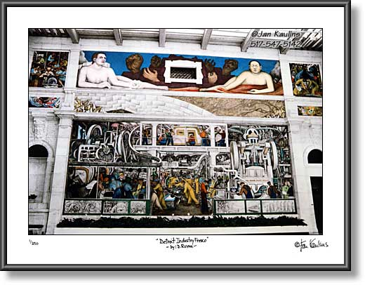 Click on this image to see an enlarged view of Detroit Industry Fresco photo Diego Rivera DIA.
