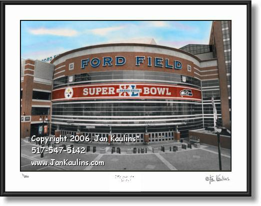 Click on this image to see an enlarged view of SUPERB0WL XL FORD FIELD photo picture print.