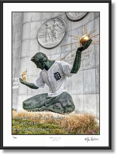 Click on this image to see an enlarged view of Spirit of Detroit photo 2012 Detroit World Series.