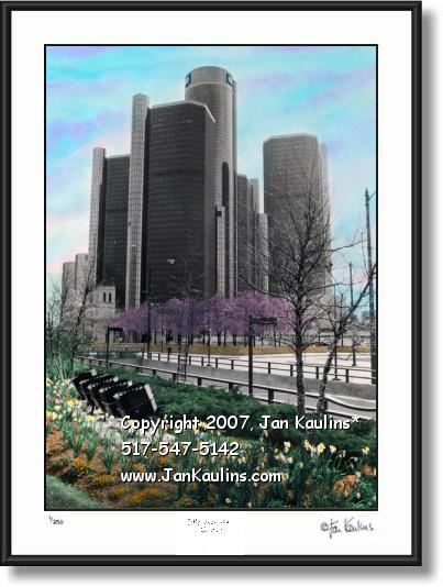 GM World Headquarters GM picture photo print