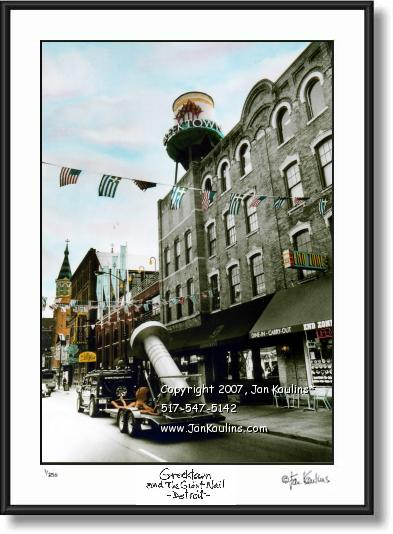 GREEKTOWN DETROIT Greektown photo print