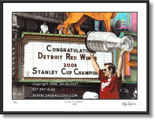 Click on this image to see an enlarged view of NIK LIDSTROM Stanley Cup 2008 Parade photo .