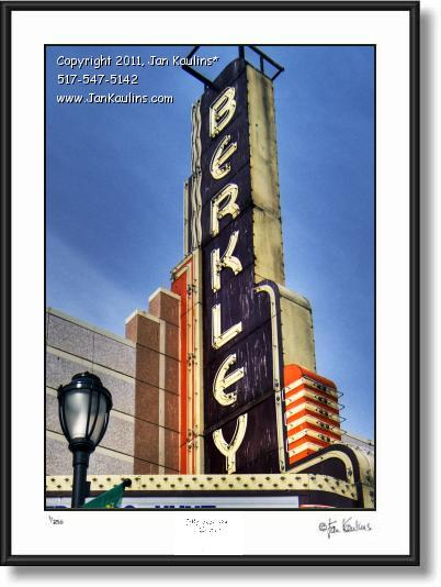 Click on this image to see an enlarged view of Berkley Theatre photo fine art print photograph.