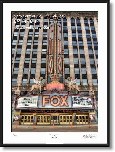 Click on this image to see an enlarged view of FOX THEATRE Detroit Fox Theater photo print.