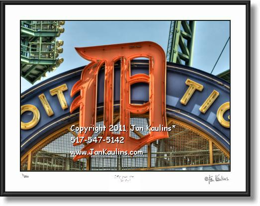 Click on this image to see an enlarged view of COMERICA PARK 'D' Comerica Park photo print.