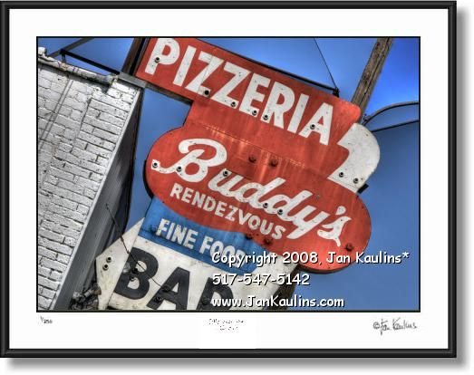 Click on this image to see an enlarged view of BUDDYS PIZZA Detroit BUDDYS PIZZA photo print.