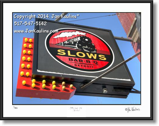 Click on this image to see an enlarged view of SLOWS BAR-B-Q Detroit photo print Slows Bar-B-Q.