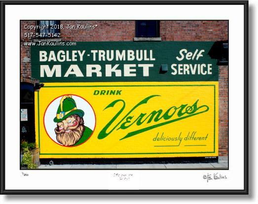 Click on this image to see an enlarged view of VERNOR'S GNOME wall mural ad photo print.