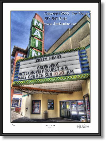 Click on this image to see an enlarged view of ROYAL OAK photo art print photo MAIN THEATRE.