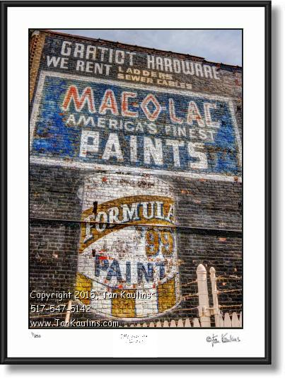 Click on this image to see an enlarged view of MAC-O-LAC paint Detroit ghost sign photo art.
