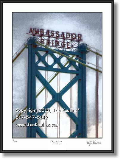 Click on this image to see an enlarged view of AMBASSADOR BRIDGE photo Ambassador Bridge.