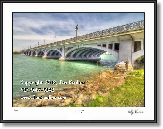 Click on this image to see an enlarged view of BELLE ISLE BRIDGE photo picture print Belle Isle.