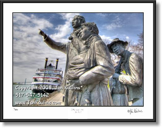 Click on this image to see an enlarged view of Underground Railroad Memorial Detroit photo art.