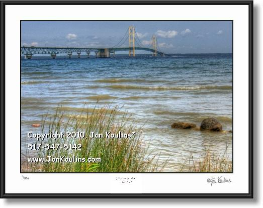 Click on this image to see an enlarged view of MACKINAC BRIDGE photo print MACKINAC Bridge.