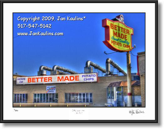 Click on this image to see an enlarged view of BETTER MADE CHIPS Factory photo art print.